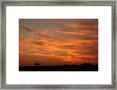 Sunset Over North Norfolk Framed Print by Paul Lilley