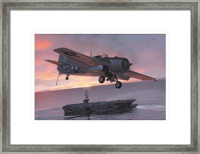 Sunset Over Ommaney Bay Framed Print by Hangar B Productions