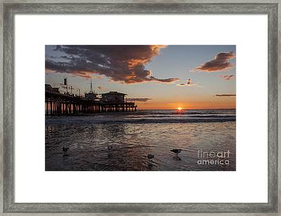 Sunset Over Pacific Framed Print