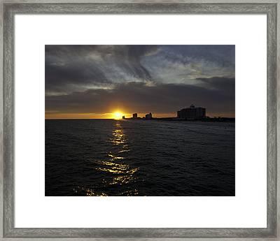 Sunset Over Pensacola Framed Print by Tim Stanley