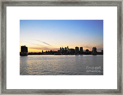 Sunset Over Philadelphia Framed Print