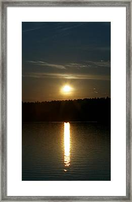 Framed Print featuring the photograph Sunset Over Pickerel River Sun 91 by G L Sarti