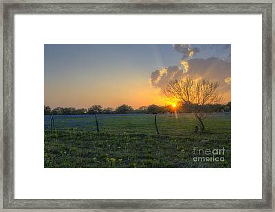 Sunset Over Poteet Texas Framed Print