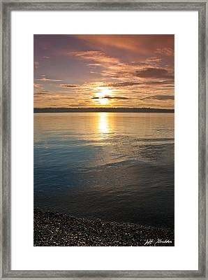 Sunset Over Puget Sound Framed Print