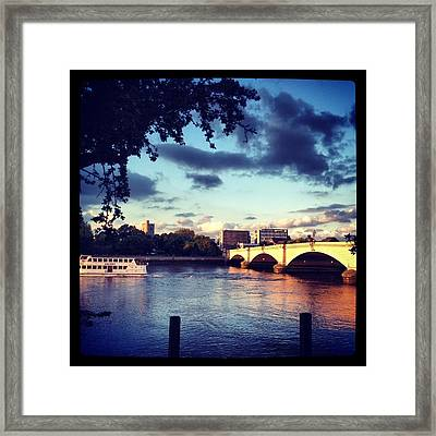 Sunset Over Putney Bridge Framed Print by Maeve O Connell