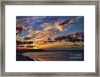 Sunset Over Rethymno Crete Framed Print