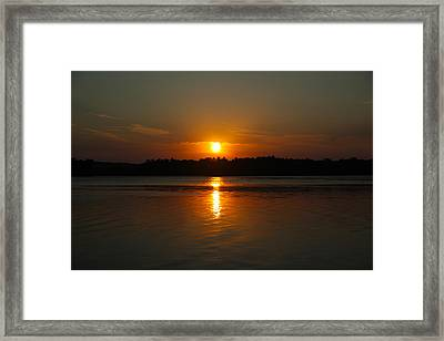 Sunset Over Rice Lake Framed Print by James Hammen