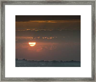 Sunset Over Rochester Framed Print
