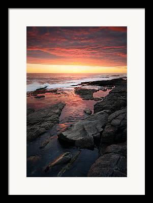 Rocky Coastline Framed Prints