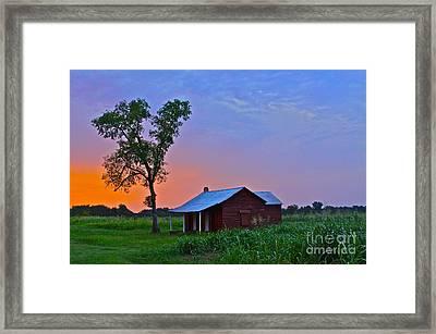 Sunset Over Salma - No.009 Framed Print
