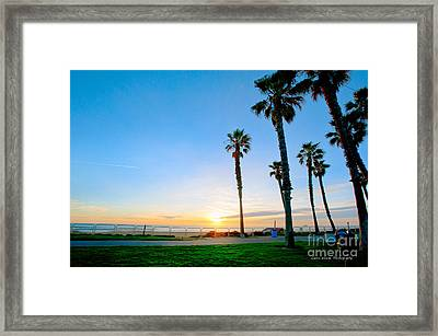 Sunset Over Santa Barbara Framed Print by Artist and Photographer Laura Wrede