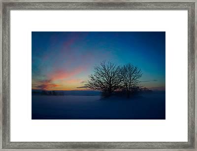 Sunset Over Sattuna Framed Print by Jonas Lind