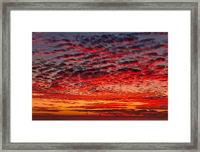 Sunset Over Saunder's Reef Framed Print