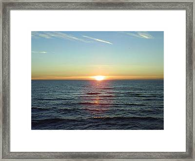Sunset Over Sea Framed Print by Gordon Auld