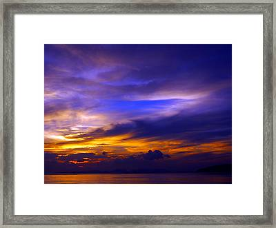 Sunset Over Sea Framed Print by Kaleidoscopik Photography