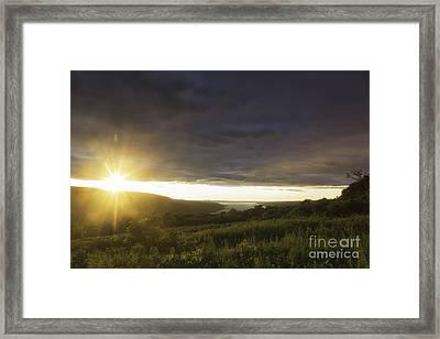 Sunset Over Skaneateles Framed Print
