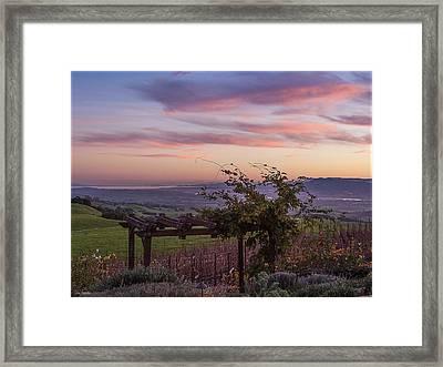 Sunset Over Sonoma Coast Framed Print