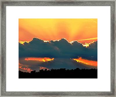 Sunset Over Southern Ohio Framed Print