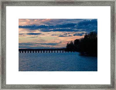Sunset Over Squalicum Bay Framed Print