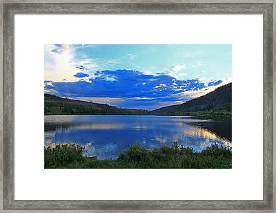 Sunset Over State Forest Framed Print by Greg Brown