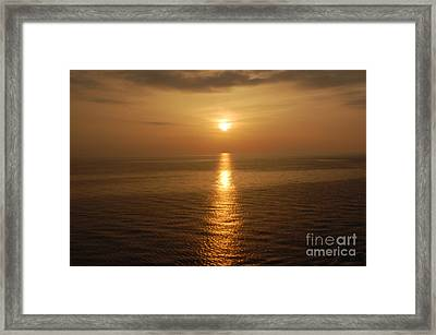 Sunset Over The Adriatic Framed Print