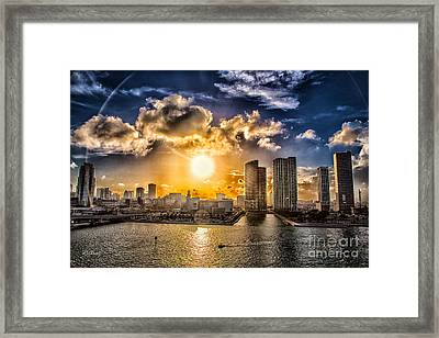 Sunset Over The Arena Hdr Framed Print