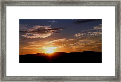 Framed Print featuring the photograph Sunset Over The Blue Ridge by Candice Trimble