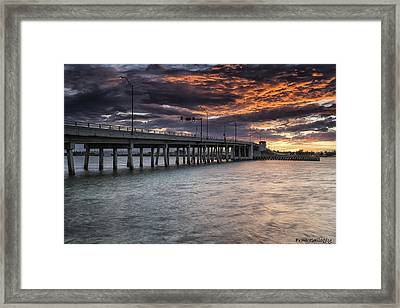 Sunset Over The Drawbridge Framed Print