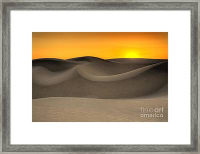 Sunset Over The Dunes Framed Print