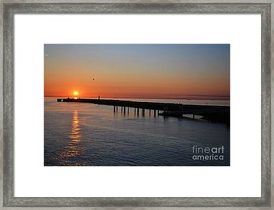 Sunset Over The English Channel Framed Print