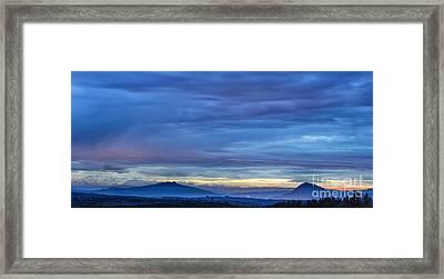Sunset Over The European Alps Framed Print by Bernd Laeschke