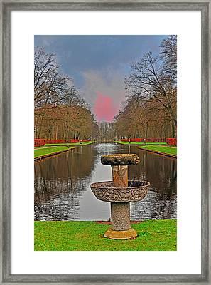 Sunset Over The Garden Framed Print