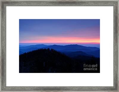 Sunset Over The Great Smoky Mountains Framed Print by Glenn Morimoto