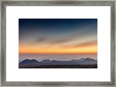 Sunset Over The Gulf Framed Print