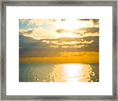 Sunset Over The Gulf Sun 92 Framed Print