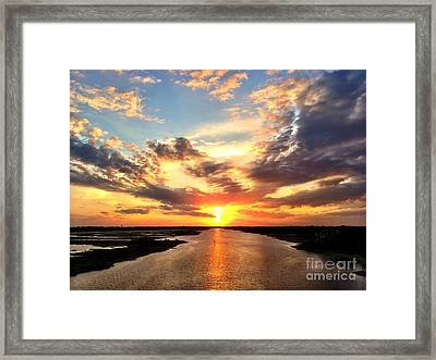 Sunset Over The Icw Framed Print