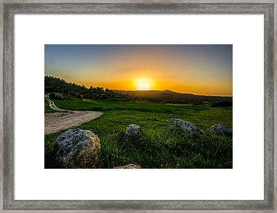 Sunset Over The Judean Hills Framed Print