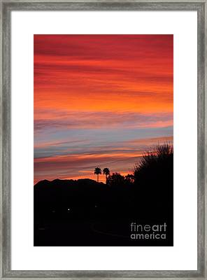 Sunset Over The Mountains Framed Print by Jay Milo