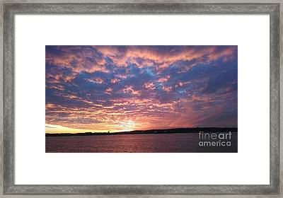Sunset Over The Narrows Waterway Framed Print by John Telfer
