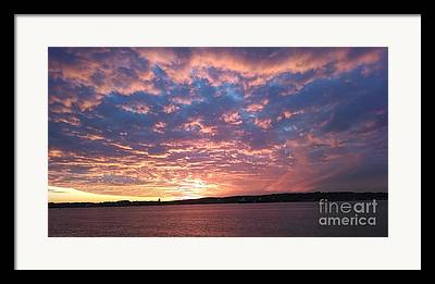 Reflection Of Sun In Clouds Photographs Framed Prints