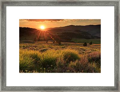 Sunset Over The Northern Part Framed Print