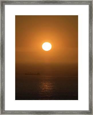 Sunset Over The Ocean, Cape Town Framed Print