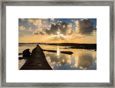 Sunset Over The Ocean I Framed Print
