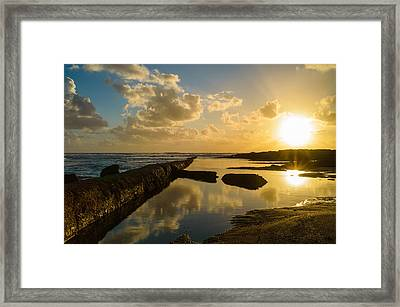 Sunset Over The Ocean II Framed Print by Marco Oliveira