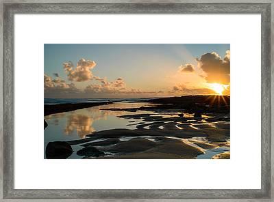 Sunset Over The Ocean IIi Framed Print