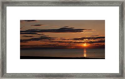 Sunset Over The Ocean, Jetties Beach Framed Print