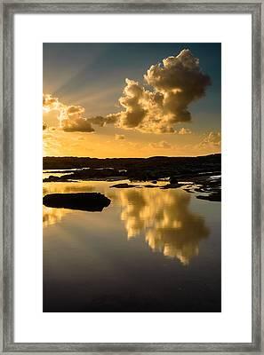 Sunset Over The Ocean V Framed Print