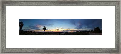 Sunset Over The Pacific Ocean, Todos Framed Print