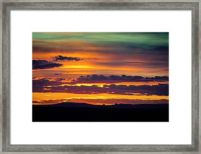Sunset Over The Painted Desert Framed Print