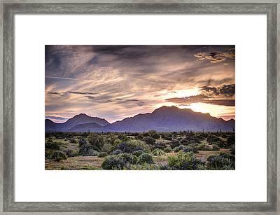 Sunset Over The Preserve Framed Print by Anthony Citro